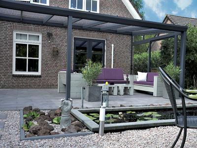 Hanse Terrassendach moderner Garten Referenz