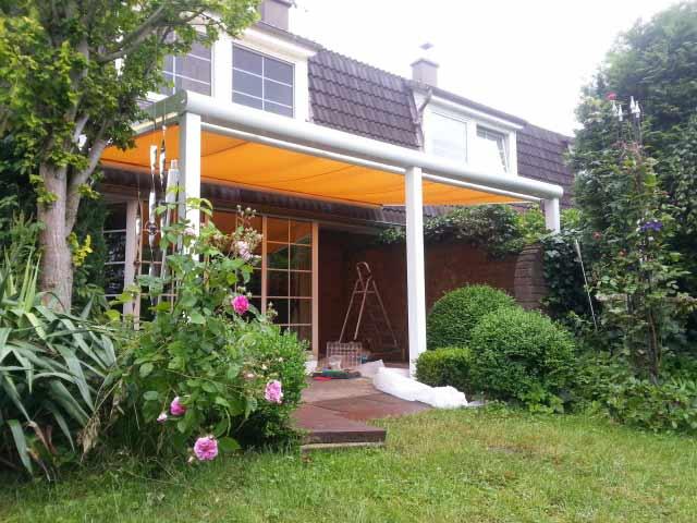 Terrassendach weiß Aufdachmontage